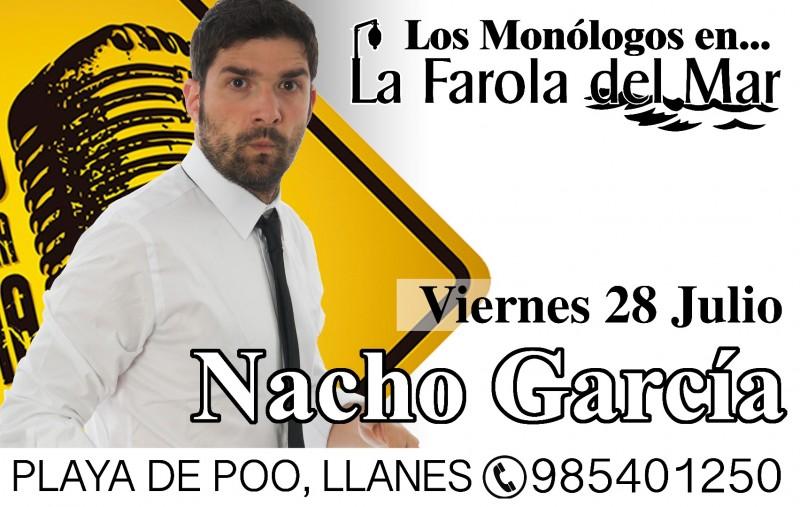 Menú Cena Los Monólogos - Nacho García (28 julio)